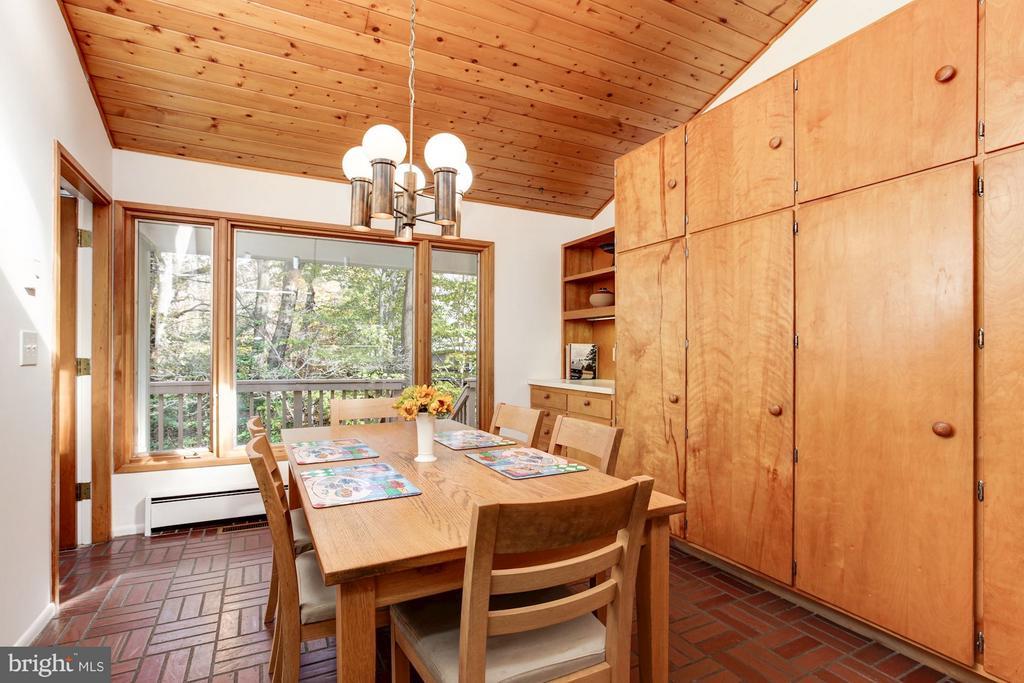 Incredible eat-in & storage space breakfast room - 7709 HAMILTON SPRING RD, BETHESDA