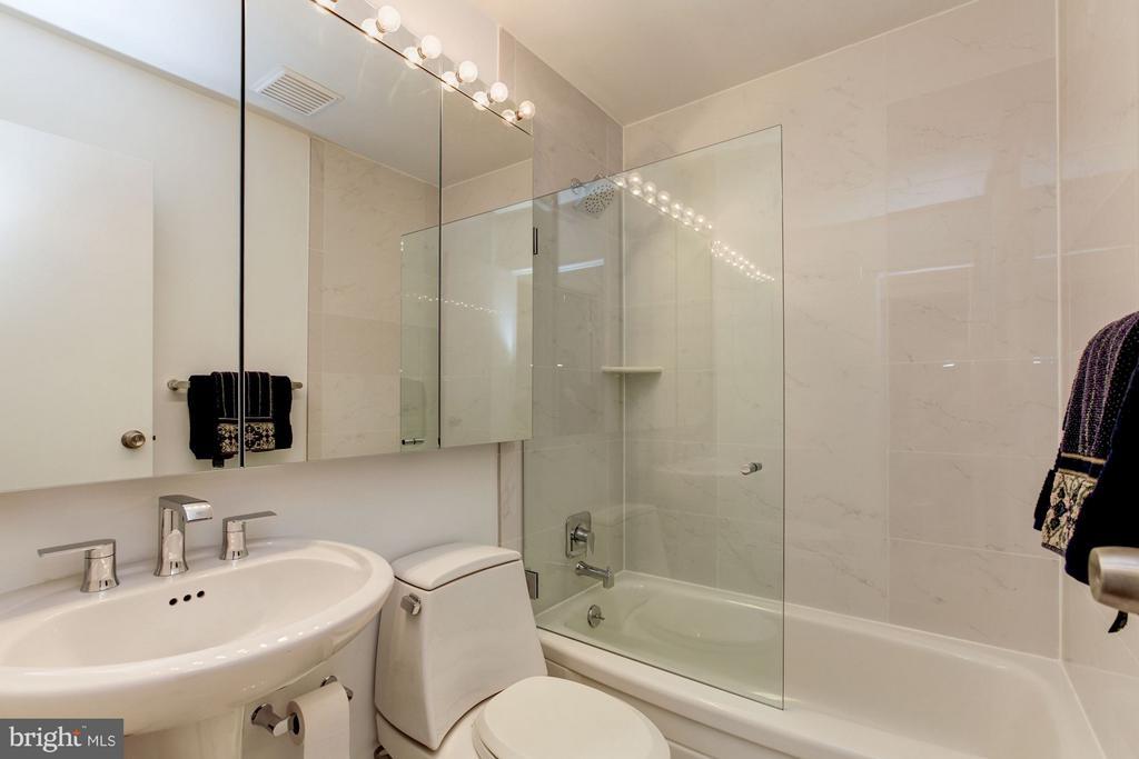 Upstairs Hall Bath renovated 2018 - 7709 HAMILTON SPRING RD, BETHESDA