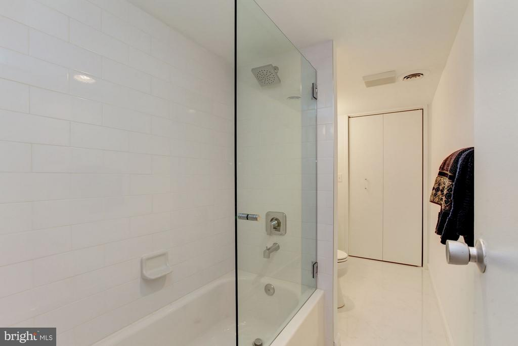 Downstairs Hall Bath renovated 2018 - 7709 HAMILTON SPRING RD, BETHESDA