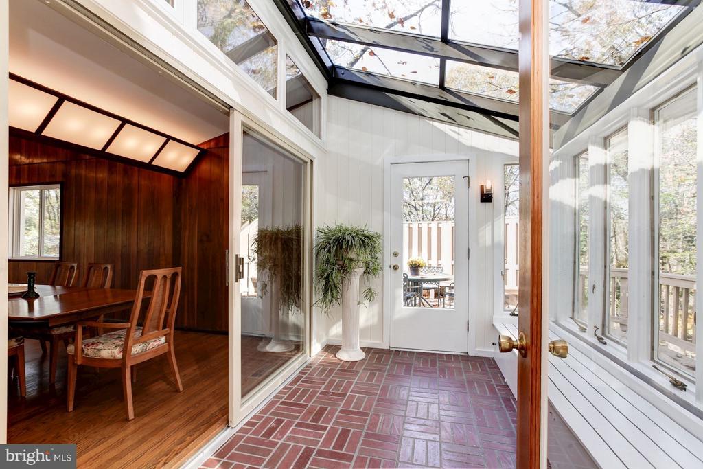 Enjoy the outdoors from inside year-round sunroom - 7709 HAMILTON SPRING RD, BETHESDA
