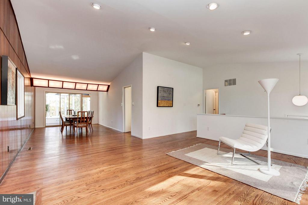 Front to rear exposures in this light-infused home - 7709 HAMILTON SPRING RD, BETHESDA
