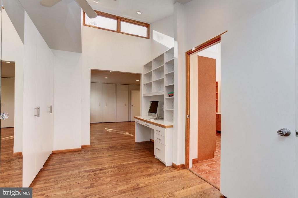 Euro  floor-to-ceiling closets in MBR sitting room - 7709 HAMILTON SPRING RD, BETHESDA