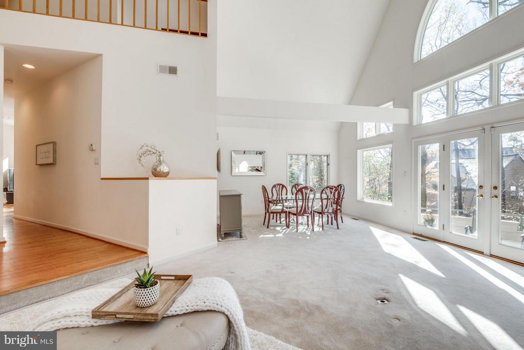 Vaulted ceilings over Dining Room (SEE TOUR) - 11581 GREENWICH POINT RD, RESTON