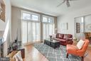 Floor to ceiling french doors, Plantation shutters - 11581 GREENWICH POINT RD, RESTON