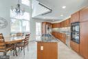 Open Kitchen with gas cooking, Wall oven & SS appl - 11581 GREENWICH POINT RD, RESTON