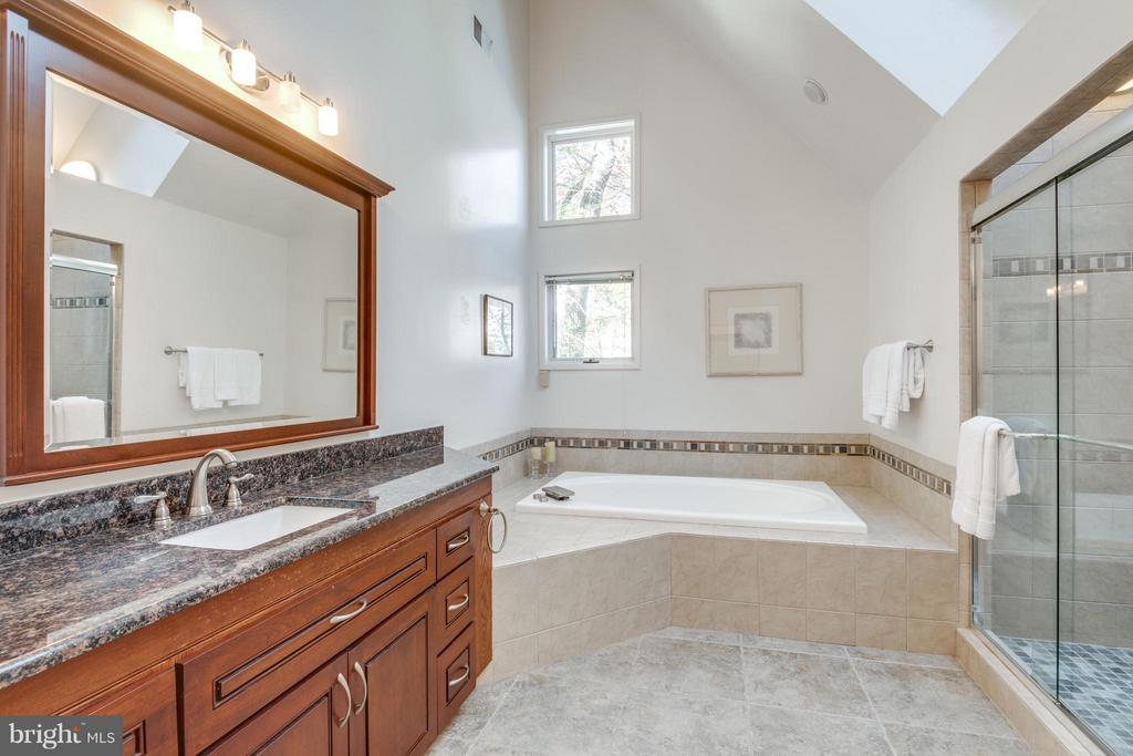 Renovated Master bath, jetted soaking tub(see tour - 11581 GREENWICH POINT RD, RESTON