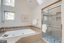Renovated shower - 11581 GREENWICH POINT RD, RESTON