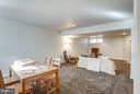 Finished lower level recreation space - 11581 GREENWICH POINT RD, RESTON