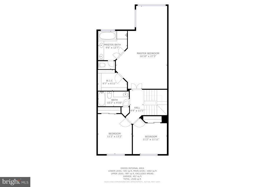 Third level of floor plan - 7273 JOHN RYLAND WAY, SPRINGFIELD