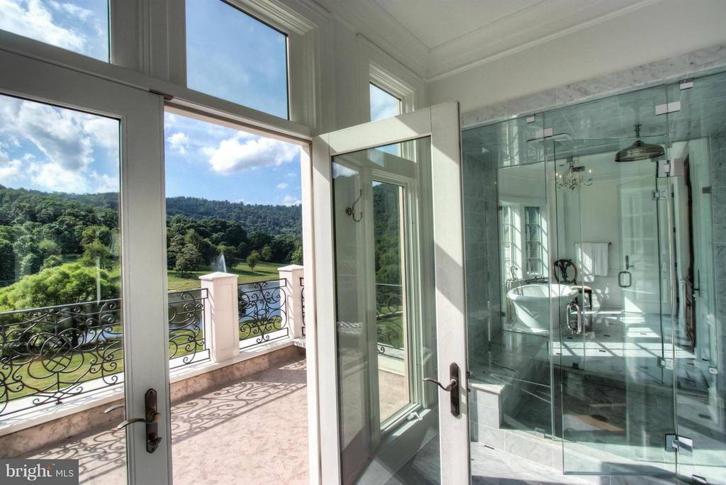 Balcony Access in Master Bath - 12410 COVE LN, HUME