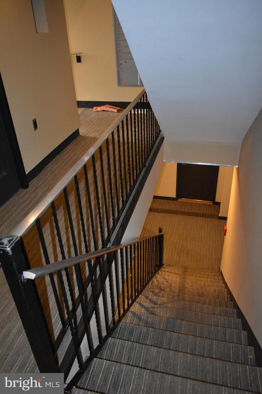 Stairs down to condo - 2339 40TH PL S #001, WASHINGTON