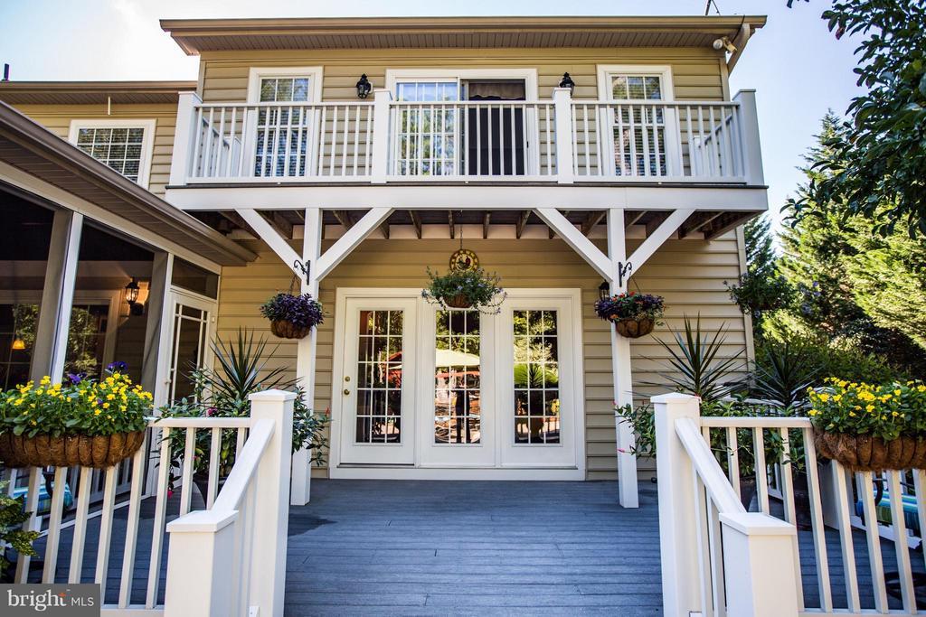 Rear View-Trex Deck-Balcony Access for Bedrooms - 10519 WILDBROOKE CT, SPOTSYLVANIA