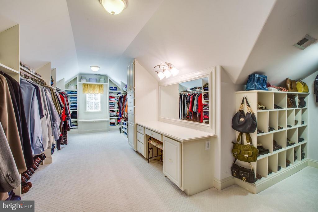 Master Closet w/Custom Cabinets & Shoe Storage - 10519 WILDBROOKE CT, SPOTSYLVANIA
