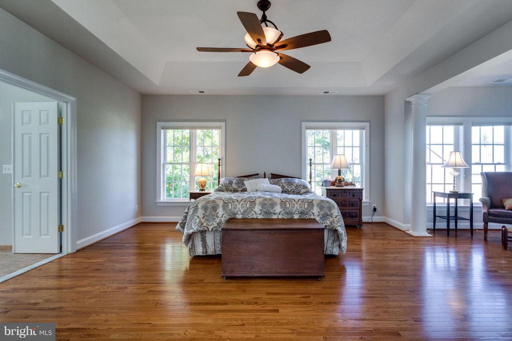 Master bedroom with newer hardwood floors - 18349 MID OCEAN PL, LEESBURG
