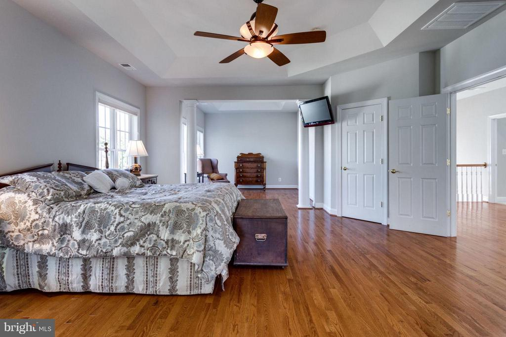 Expansive master bedroom with sitting room - 18349 MID OCEAN PL, LEESBURG