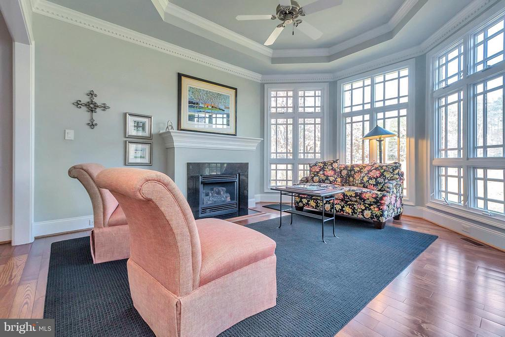 Elegant Sitting Room w Fireplace - 11801 FAWN LAKE PKWY, SPOTSYLVANIA