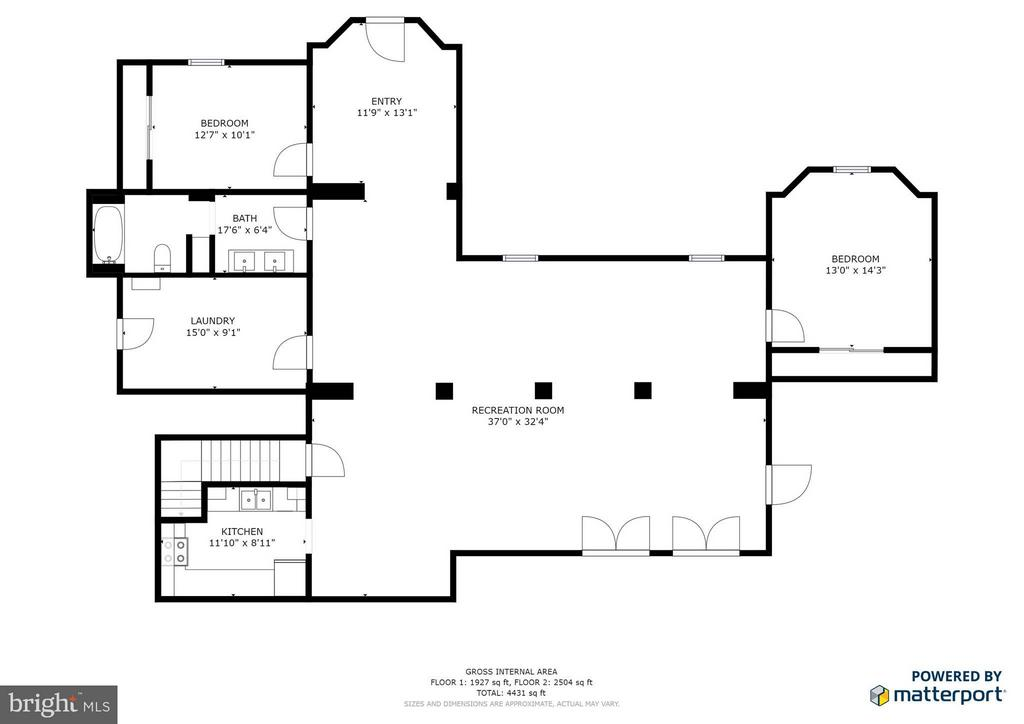 Approx Floor plan - 8099 MEADOWLAND DR, LOCUST GROVE