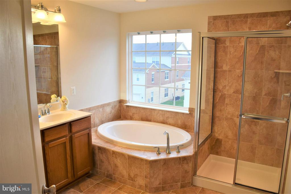 Separate soaker and shower, double-sink vanity - 19342 GARDNER VIEW SQ, LEESBURG