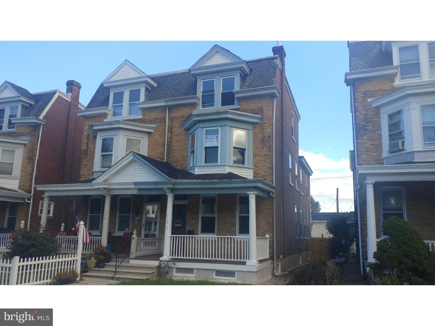 Property for Rent at 722 HAWS Avenue Norristown, Pennsylvania 19401 United States