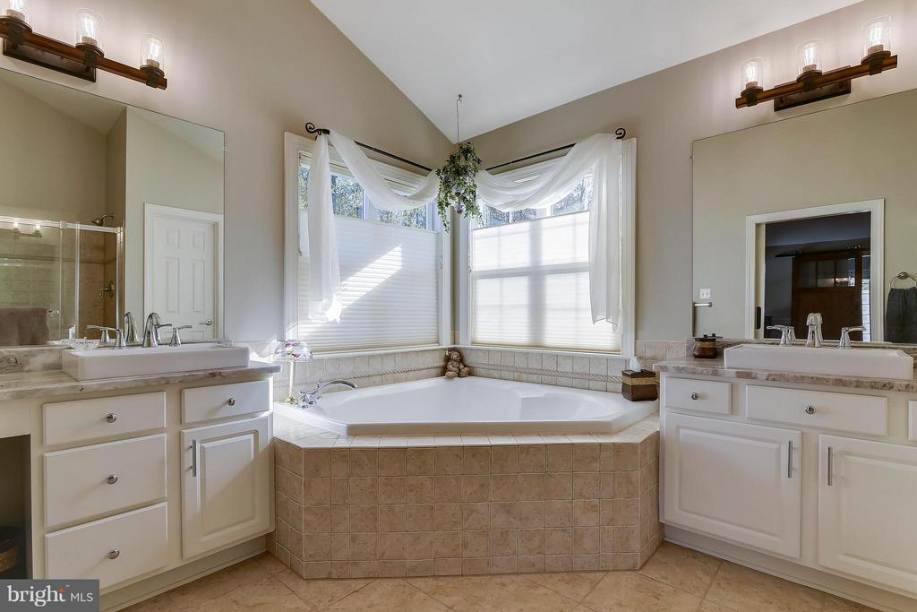 Master Bathroom with Tub and Separate Shower - 17266 FLINT FARM DR, ROUND HILL