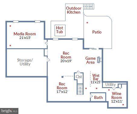 Lower Level Floor Plan - 17266 FLINT FARM DR, ROUND HILL