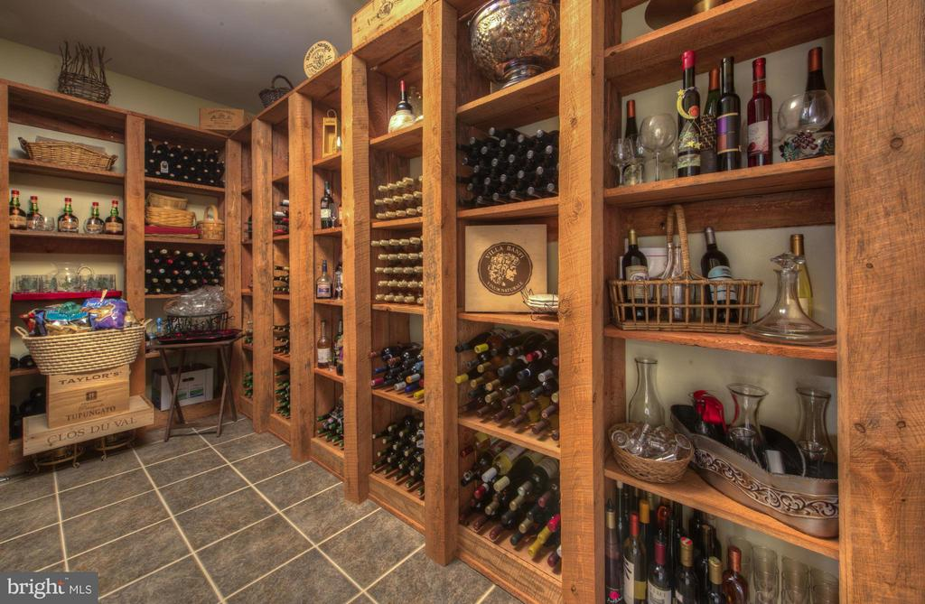 Beautiful Custom Wine Cellar. - 254 SPOTTED TAVERN RD, FREDERICKSBURG
