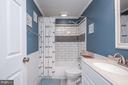 Beautifully designed hall upstairs bath. - 11 FAIRFIELD CT, STAFFORD
