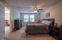 Bedroom (Master) featuring ceiling fan. Spacious - 11 FAIRFIELD CT, STAFFORD