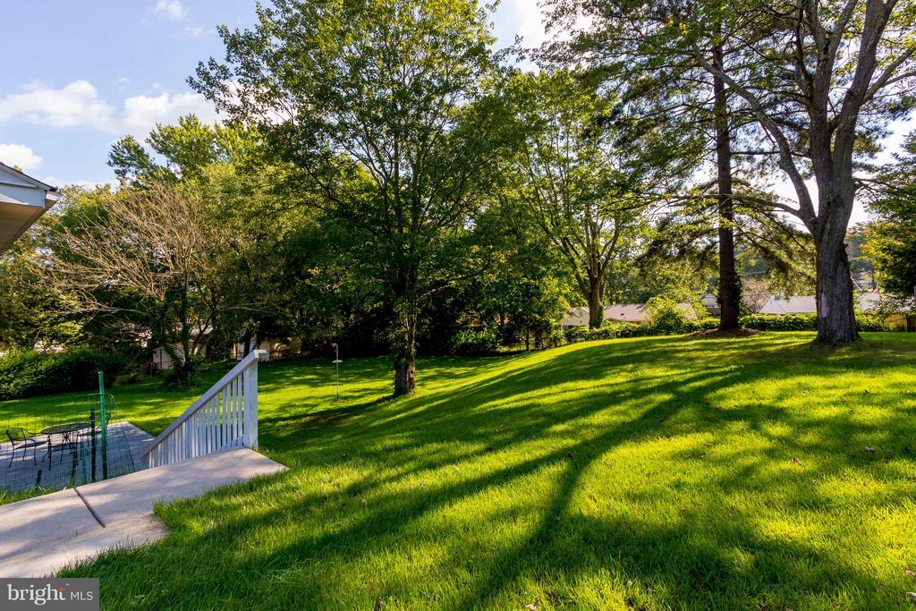 Gorgeous large private backyard - 6123 ALGONA CT, ALEXANDRIA