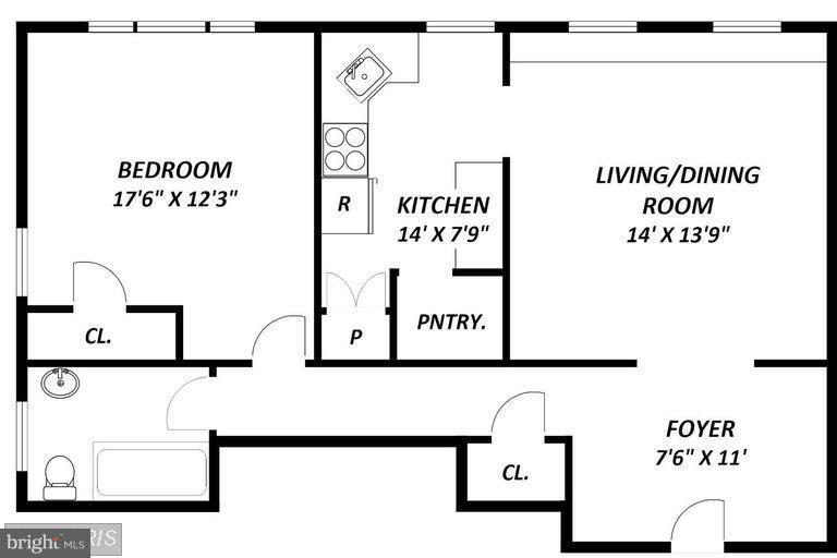 floor Plan - 516 A ST NE #203, WASHINGTON