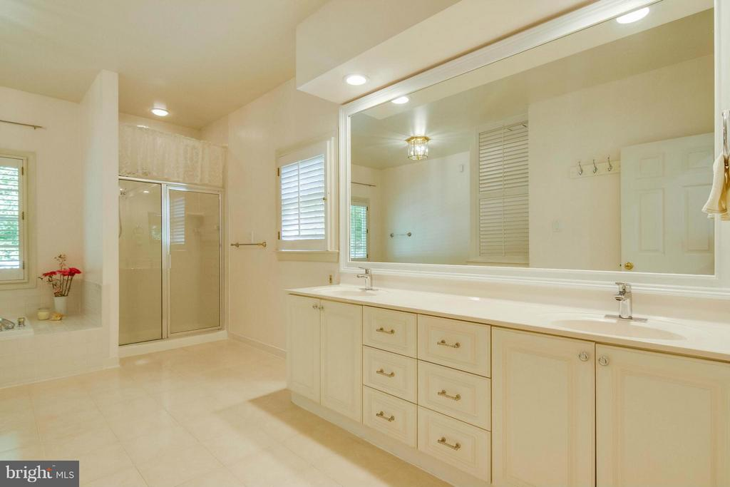 Very large master bathroom - 6032 LADY SLIPPER LN, MANASSAS