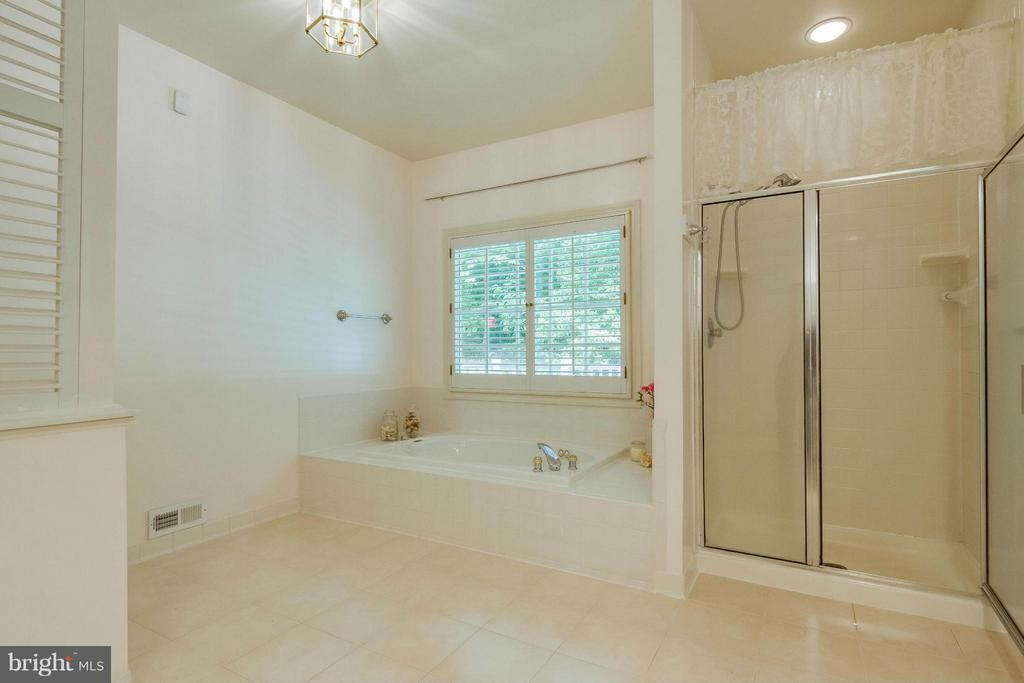Master bath has separate tub and shower - 6032 LADY SLIPPER LN, MANASSAS