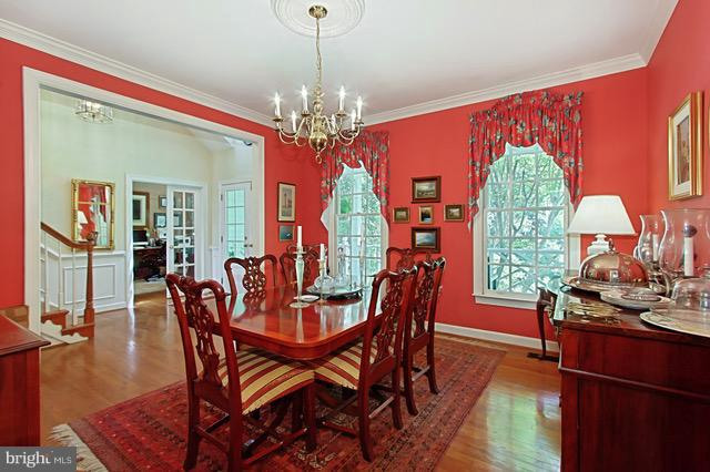 Dining Room with furniture - 6032 LADY SLIPPER LN, MANASSAS