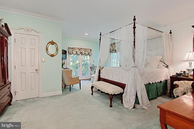Bedroom (Master) with furniture - 6032 LADY SLIPPER LN, MANASSAS