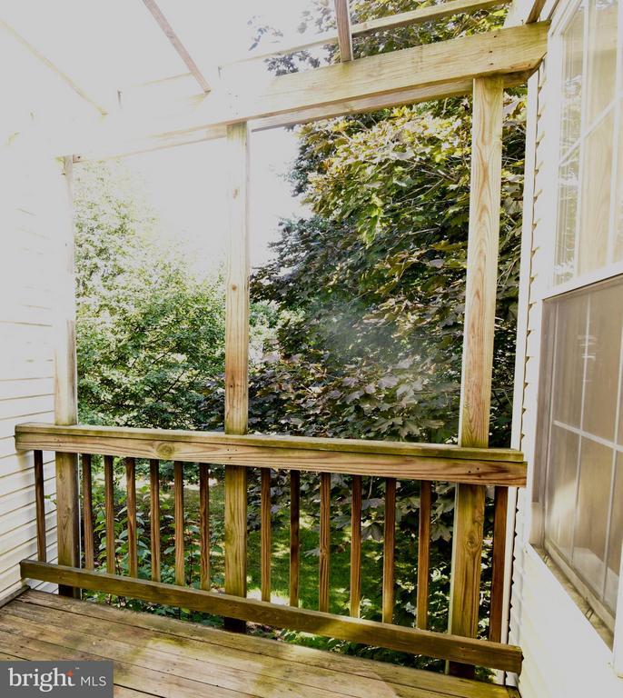 Back Deck off Kitchen - 43172 LAWNSBERRY SQ, ASHBURN