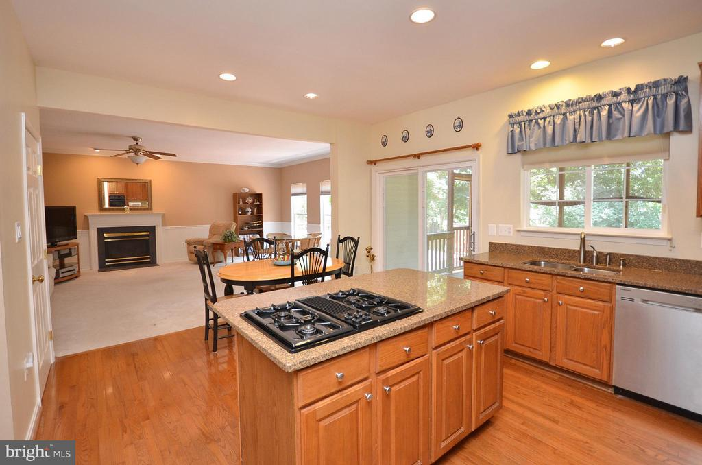 Kitchen with Gas Cooktop - 20532 DEERWATCH PL, ASHBURN