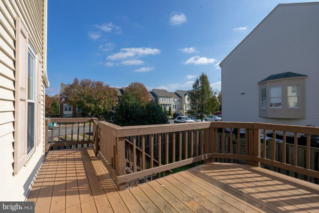 View of the community from the deck - 44011 NW CHOPTANK TER, ASHBURN