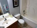 Full bath in upper hallway - 70 OWL AVE, MARTINSBURG
