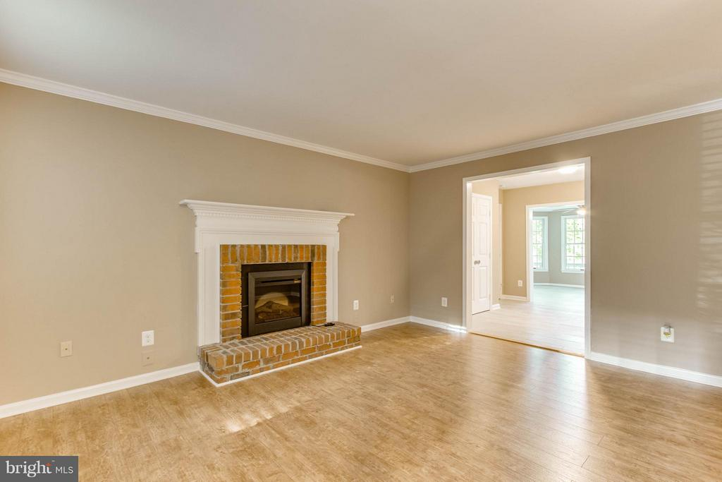 Family Rm boasts WB fireplace w electric insert! - 15902 DOLPHIN DR, DUMFRIES