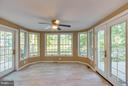 Sunroom with a view! Opens to deck on both sides! - 15902 DOLPHIN DR, DUMFRIES