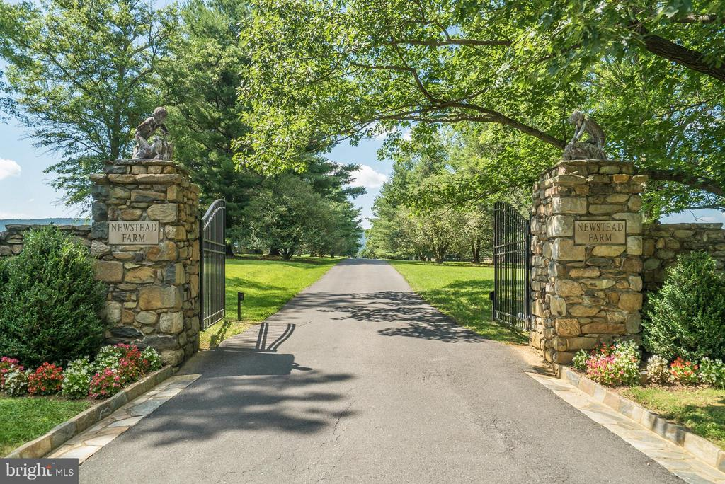 A grand entrance befitting an important property. - 33542 NEWSTEAD LN, UPPERVILLE