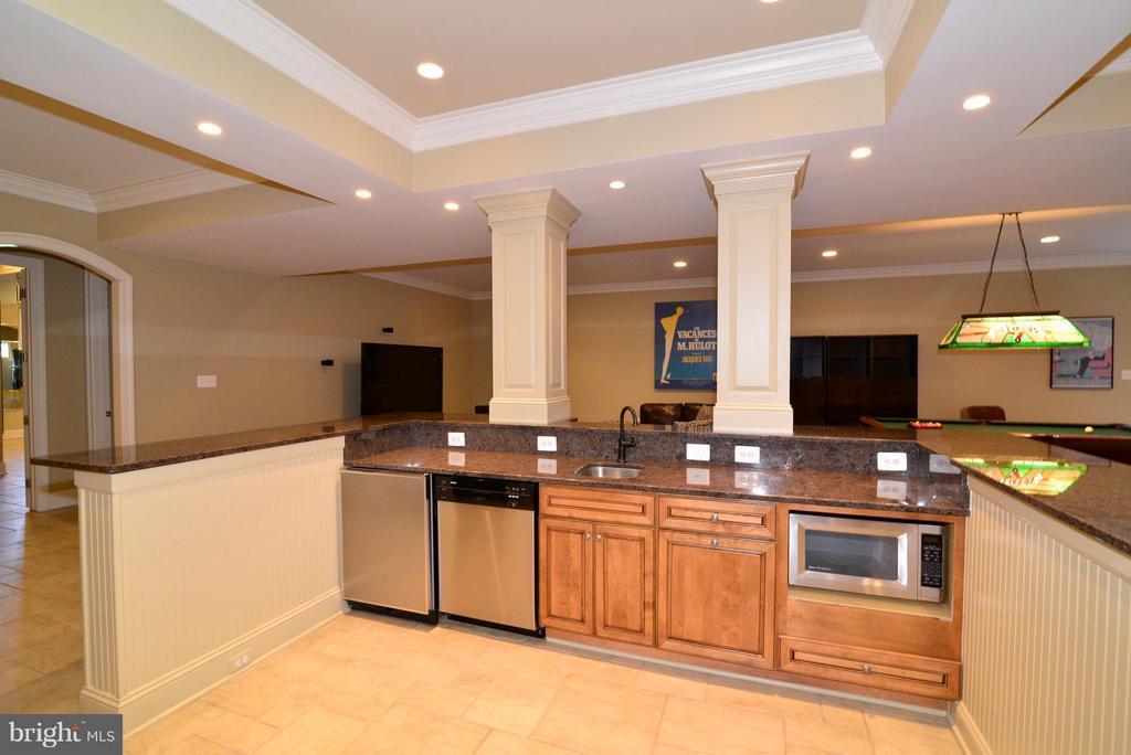 Basement Bar/Kitchen Area #2 - 41738 PUTTERS GREEN CT, LEESBURG