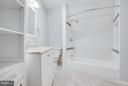 Extraordinary tile work mirrors the exterior wall - 127 YORKTOWN BLVD, LOCUST GROVE
