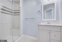 Main level bath with tile - 127 YORKTOWN BLVD, LOCUST GROVE