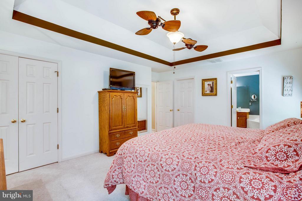 Tray Ceiling in Master Bedroom - 12647 BELLEFLOWER LN, FREDERICKSBURG