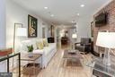 Spacious Living Room with hardwood floors. - 1830 JEFFERSON PL NW #1, WASHINGTON