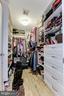 Large well organized walk-in closet in Master - 1830 JEFFERSON PL NW #1, WASHINGTON