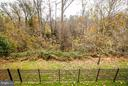 Fully fenced looking out to wooded area. - 16585 SPACE MORE CIR, WOODBRIDGE