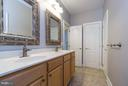 Large bath w/dual sinks, separate bathing area - 18967 ROCKY CREEK DR, LEESBURG