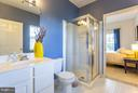 Generous Jack-and-Jill bath with stand-up shower - 11314 WESTBROOK MILL LN #303, FAIRFAX